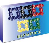 Plaque olympique — Vecteur
