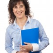 Casual woman with notebook — Stock Photo #5880361