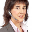 Stock Photo: Smiling customer support girl