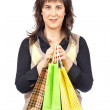 Woman holding shopping bags — Foto Stock