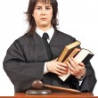 Angry female judge — Stock Photo #5880463