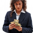 Business woman counting — Stock Photo #5880609