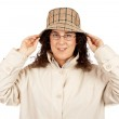 Woman holding hat — Stock Photo #5880671
