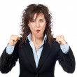 Excited businesswoman — Stock Photo #5880732
