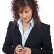 Business woman send a SMS — Stock Photo #5880750