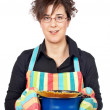 Housewife in apron — Stock Photo #5880800
