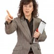 Pointing with the finger — Stock Photo