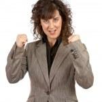 Excited businesswoman gesture — Stock Photo #5880875