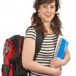 Young student woman with backpack - Foto Stock