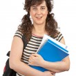Young student woman with backpack — Foto Stock