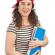 Young student woman with red cap — Stock Photo #5880904