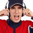 Disc jockey shouting — Stock Photo #5880987