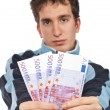 Showing a fan money — Stock Photo #5881009