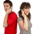 Talking with phone — Stock Photo