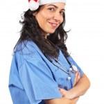 Female doctor christmas — Stock Photo