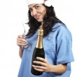 Female doctor party — Stock Photo #5881141