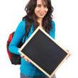Holding the chalkboard — Stock Photo #5881209