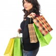 Woman holding shopping bags — Stock Photo #5881239
