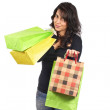 Woman holding shopping bags — Stock Photo #5881243