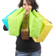 Woman holding shopping bags — Stock Photo #5881264