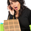 Woman holding shopping bags — Stock Photo #5881269