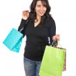 Woman holding shopping bags — Stock Photo #5881270