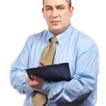 Business man writing — Stock Photo