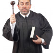 Judge holding the gavel and book — Stock Photo #5881342