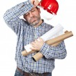 Stock Photo: Exhausted construction worker