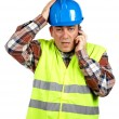 Construction worker with surprised expression — Stock Photo #5881455