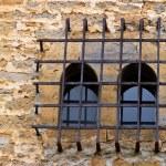 Antique window grating — Stock Photo