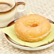 Delicious donut  with coffee — Stock Photo