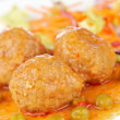 Meatballs with salad — Stock Photo