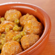 Fresh meatballs with peas — Stock Photo #5882187