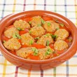 Fresh meatballs with peas — Stock Photo #5882191