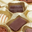 Chocolate candies background — Stock Photo