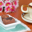 Coffee with chocolate candies — Foto de Stock