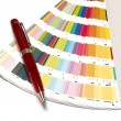 Color guide and pen — Foto Stock #5882416