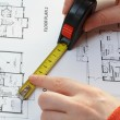 Measure and architectural plan — Stock Photo