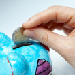 Business savings in piggy bank — Stock Photo