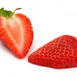 Strawberry cut - Stock Photo