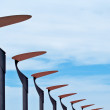 Lampposts on the blue sky - Stock Photo