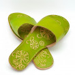 Stock Photo: Lady green sandals