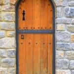 Antique door of chapel — Stock Photo #5883120