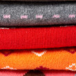 Several colors clothes stack - Stock Photo