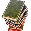 Isolated books stack - Stock Photo
