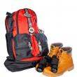 Mountain adventure kit — Stock Photo