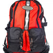 Black and red backpack — Foto Stock