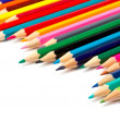 Assortment of coloured pencils — Stock Photo #5883364