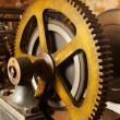 Industrial gears - Stock Photo